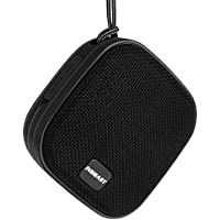 INSMART IPX7 Waterproof Speaker, Bluetooth Speakers, Portable Speakers with 12 Hours playtime with 8W Driver, Built-in Mic, Hands-Free Speakerphone, Lanyard and Suction Cup Mount (Black)