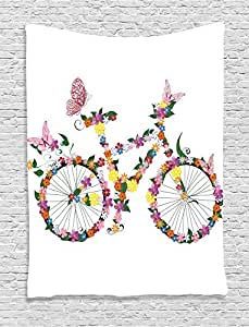 Ambesonne butterflies decoration collection for 70 bike decoration