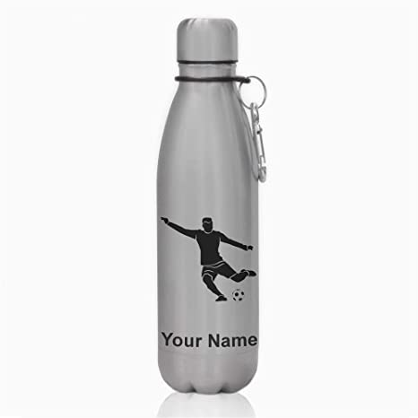 Review Water Bottle, Soccer Player