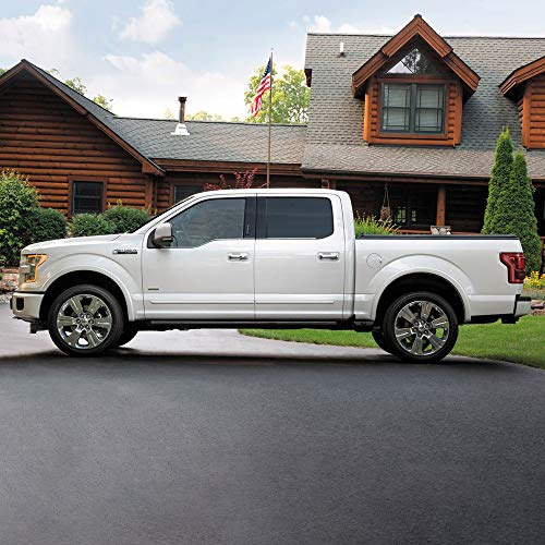 Dawn Enterprises CF-F15015-SCC Chromeline Body Side Molding Compatible with Ford F-150, REAL STEEL (TB)
