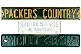 Green Bay Packers Country Officially Licensed Authentic Steel 36x6 Green & Yellow NFL Street Sign