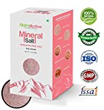 NutroActive Mineral Salt, Himalayan Pink Salt Fine Grain (0.5 - 1 mm) 1 lb, Unprocessed Himalayan Edible Pink Cooking Salt, Grocery & Gourmet Food