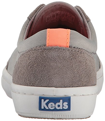 Keds Womens Fashion Torneo In Nylon / Pelle Scamosciata Wx Fashion Sneaker Grigio