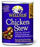 Wellness Canned Dog Food for Adult Dogs, Chicken Stew with Peas and Carrots, 12-Pack of 12-1/2-Ounce Cans, My Pet Supplies