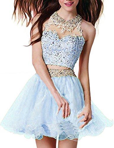 Kleider Gelb Ballkleid Party Damen Kurz Ice Fanciest 2016 Abendkleider Heimkehr Blue wq10w87x