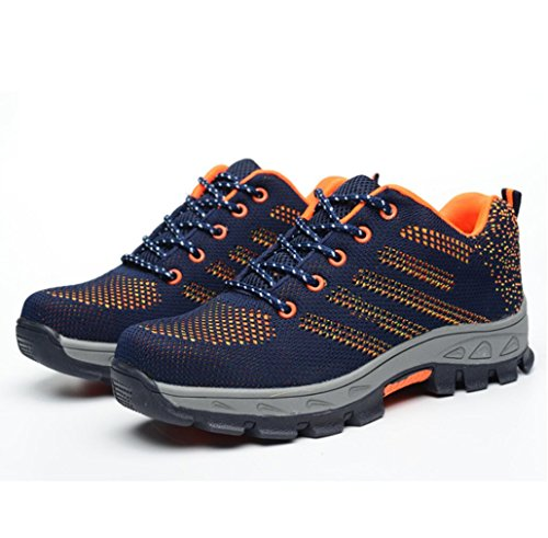 Unisex Work Safety Shoes, Steel Toe Work Shoes Industrial & Construction Shoes Puncture Proof Safety Shoes ()