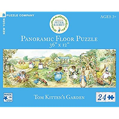 New York Puzzle Company - Beatrix Potter Tom Kitten's Garden - 24 Piece Jigsaw Puzzle: Toys & Games