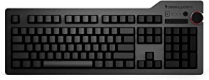 Das Keyboard 4 Ultimate Mechanical Keyboard with Blank Keycaps for an Unmatched Typing Experience- High Performance Soft Tactile Feedback - Cherry MX Brown Switches - Oversized Volume Knob - Two Port USB 3.0 - Full NKRO