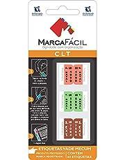 Etiquetas CLT Damásio, Marca Fácil, Multicor, Pacote de 1