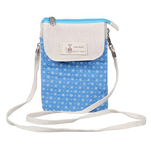 Flower Blue Pouch Bag Travelling Phone Crossbody Damara Light Womens qOAvpz