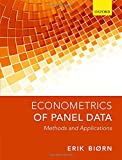 Econometrics of Panel Data: Methods and Applications