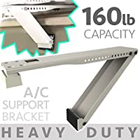 Universal Window Air Conditioner Bracket - 1pc Heavy-Duty Window AC Support - Support Air Conditioner Up to 170 lbs. - For 12000 BTU AC to 20000 BTU AC Units (HD 1PC ACB) (1, HEAVY DUTY- ONE ARM)