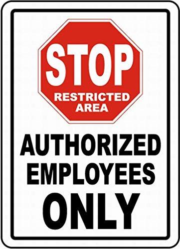 許可された従業員のみを停止 金属板ブリキ看板注意サイン情報サイン金属安全サイン警告サイン表示パネル