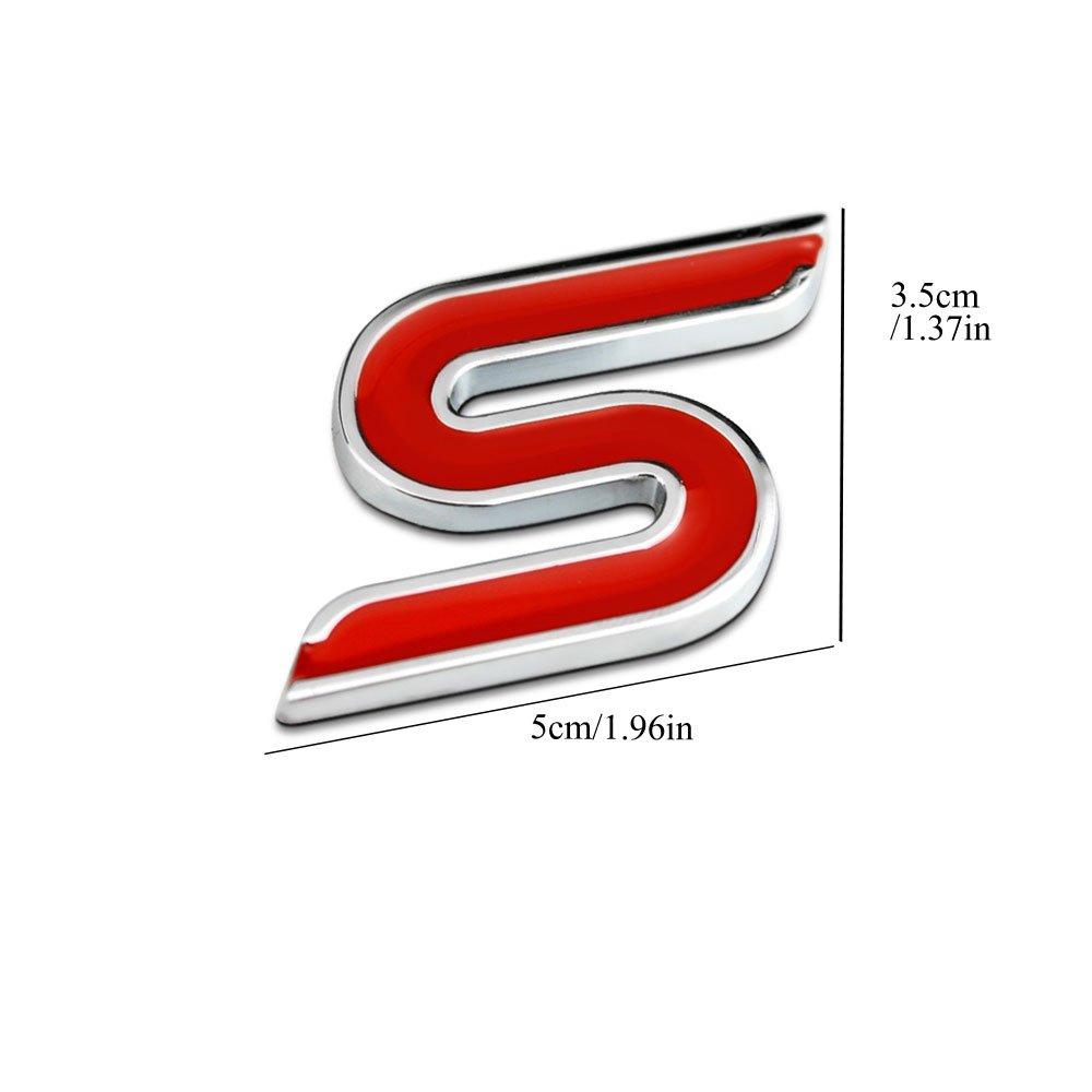 4 St/ücke R/ändelte Stil Mit Kunststoff Kern Ventilkappen f/ür Universal Car Styling Dekorative Zubeh/ör #3 Dsycar 3D Metall ST Logo Auto Abzeichen Emblem Aufkleber