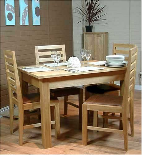 baumhaus mobel oak dining table 4 seater by baumhaus