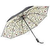 Automatic Folding Umbrella, Vati Rain-Mate Compact Travel Golf Umbrella - Windproof, Reinforced Canopy, Ergonomic Handle, Lightweight for Men Women and Kids, Auto Open/Close Multiple Colors (Colorful)