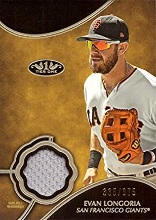 finest selection 6384c 913a4 Amazon.com: 2019 Topps Tier One Relic #T1R-EL Evan Longoria ...