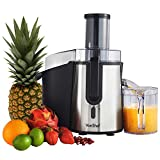 VonShef Professional Powerful Wide Mouth Whole Fruit Juicer Machine 700W Max Power Motor with Juice Jug and Cleaning Brush