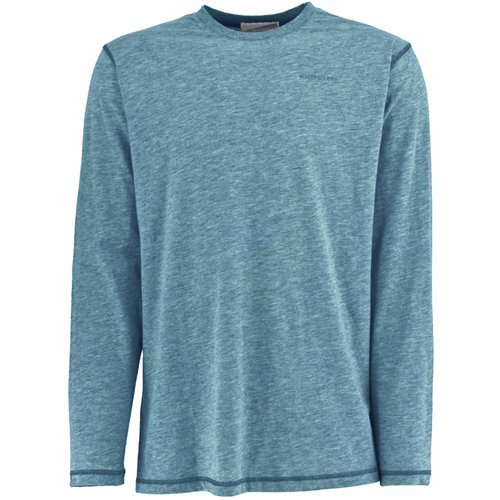 White Sierra Men's Bug Free Jersey Long Sleeve Crew Shirt, Niagara Blue, (Fashion Bug Clothing Store)