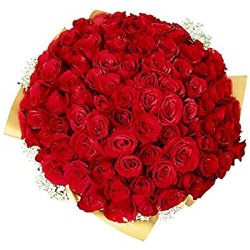 FloraZone 150 Fresh Red Roses Bouquet One And Half Century Flowers Delivery Same Day