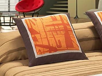 Tejidos JVR LaNovenaNube - Cojín MIRFA Medida 50x50 cm - Color Marrón