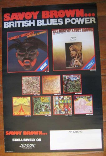 (SAVOY BROWN British Blues Power PROMOTIONAL POSTER 1978 London Records 22