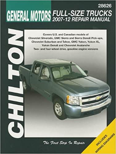 Chilton Total Car Care Chevrolet Silverado, Suburban, Tahoe & Avalanche and GMC  Sierra/Sierra Denali, Yukon/Yukon XL/Yukon Denali, 2007-2012 (Chilton's  Total Car Care Repair Manuals): Chilton: 9781563929557: Amazon.com: BooksAmazon.com