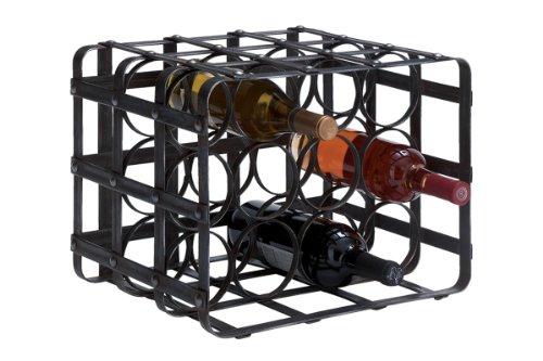 Deco 79 Metal Wine Rack, 12 by 16-Inch
