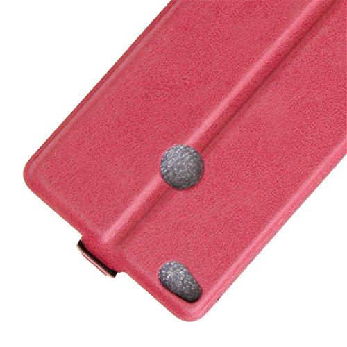 Funda Huawei P8 Lite(2017), Libro de Cuero para Huawei P9 Lite (2017), Lifetrut [Caja de correa vertical] Cierre magnético frontal de la cubierta del tirón PU de cuero arriba abajo del caso de protecc E206-Rosa