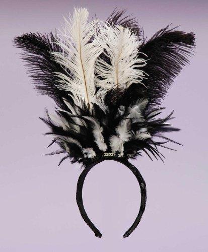 Forum Novelties Women's Costume Feather Headband, Black, One Size