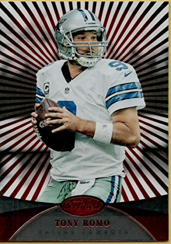 Football NFL 2013 Certified Platinum Red #111 Tony Romo Cowboys by