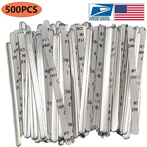 Aluminum Strips Nose Wire,Nose Bridge for Mask,90MM Metal Flat Nose Clips Nose Bridge Bracket DIY Wire for Sewing Crafts (500PCS)