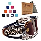 Smatiful Ionic Cute Bands with Stainless Steal Connector for Slim Male, Adjustable Replacement Watch Band for Fitbit Ionic, Grey blue