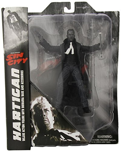 Select the Sin City, it contains information about the characteristics of PX Action Figure Sin City Select PX Hartigan Action Figure