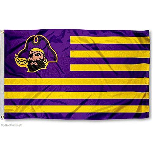 ECU Pirates Stars and Stripes Nation College Flag