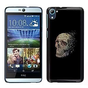 Stuss Case / Funda Carcasa protectora - Cráneo abstracto Significado Negro Muerte - HTC Desire D826