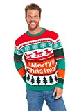 Image of YOU LOOK UGLY TODAY Knitted Mens Christmas Sweater Jumper Unisex Top Forest Dog-XXX L