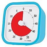 Time Timer MOD (Sky Blue), 60 minute Visual Analog Timer, Optional Alert (On/Off), No Loud Ticking; Time Management Tool