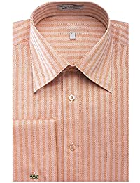 Men's Herringbone French Cuff Shirt