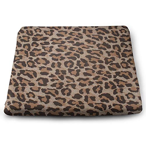 Leopard Print Removable Washable Anti-dust Memory Foam Seat Cushion Chair Pad Table Mat Thick Car Seat Cushion