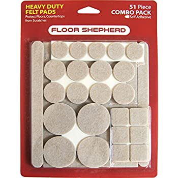This item Felt Pads (51 Piece Combo) - Self Stick Furniture Pads to Protect  Wood, Laminate, Tile Flooring. Ultra Strong Adhesive, Heavy Duty, Easy to  Peal & ...