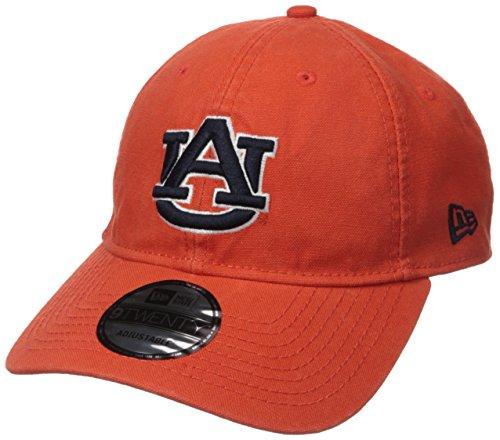 New Era NCAA Auburn Tigers Adult Core Classic Secondary 9TWENTY Adjustable Cap, One Size, Orange