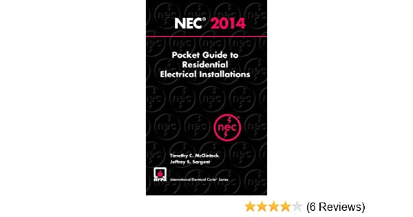 2014 nec pocket guide to residential electrical installations 2014 nec pocket guide to residential electrical installations national electrical code pocket guide residential timothy c mcclintock fandeluxe Gallery