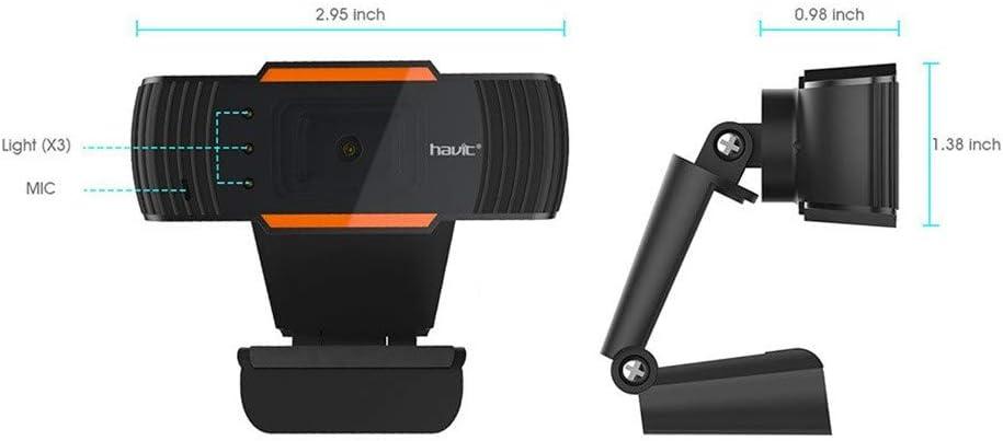 Mac Video Xbox One Desktop Schwarz OBS cordar 720p HD Webcam mit Mikrofon Skype Mini PC Webcam externe USB-Computer-Kamera f/ür PC Laptop Konferenzen YouTube