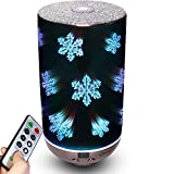 x max vaporizer - Yusen Essential Oil Aromatherapy Diffuser Remote 200ML Ultrasonic Fragrant Oil Vaporizer Humidifier, Timer and Auto-Off Safety Switch, 7 LED Light Colors(Snowflakes)