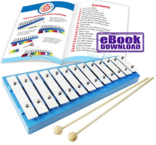 Xylophone Glockenspiels - Xylophone Glockenspiel with Sheet Music (not on paper) E-Book 20 Kids Xylophone Songs