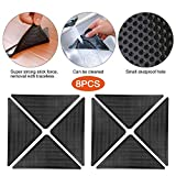 Grusly Rug Grippers,Area Rug Gripper Pads Non Slip Rug Pad Anti Curling Rug