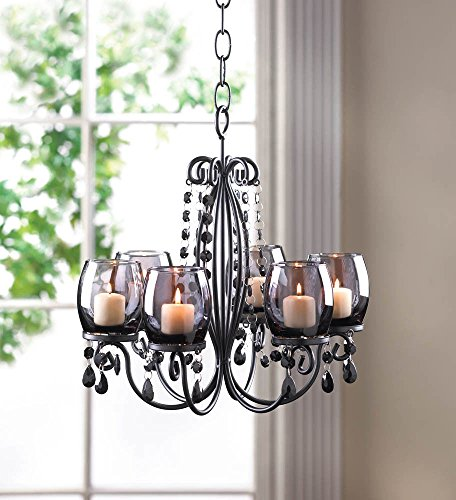 ROX Luxury House Black Hanging Chandelier Candelabra for sale  Delivered anywhere in USA