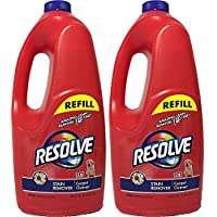 Resolve Pet Stain & Odor Carpet Cleaner Refill, 60 fl oz Bottle (Pack of 2)