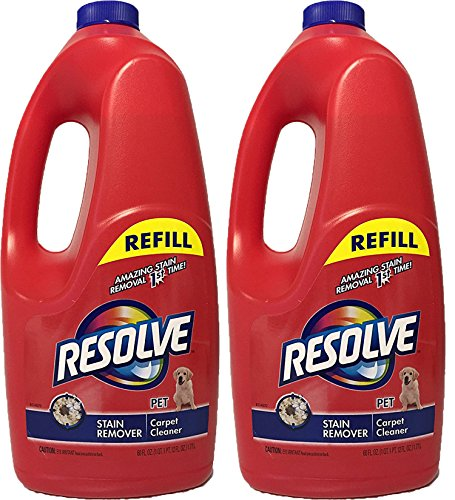 Break down into Pet Stain Remover Carpet Cleaner, 60 Ounce Refill, (Pack of 2)